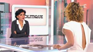 Caroline Roux et Rachida Dati dans C Politique - 08/03/15 - 05