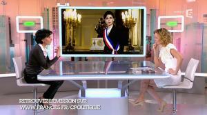 Caroline Roux et Rachida Dati dans C Politique - 08/03/15 - 09
