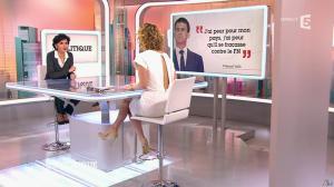 Caroline Roux et Rachida Dati dans C Politique - 08/03/15 - 10