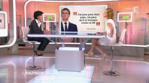 Caroline Roux et Rachida Dati dans C Politique - 08/03/15 - 11