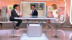 Caroline Roux et Rachida Dati dans C Politique - 08/03/15 - 12