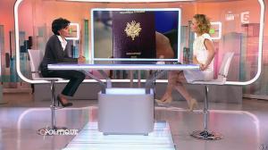 Caroline Roux et Rachida Dati dans C Politique - 08/03/15 - 17