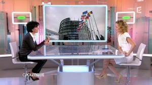 Caroline Roux et Rachida Dati dans C Politique - 08/03/15 - 18