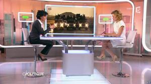 Caroline Roux et Rachida Dati dans C Politique - 08/03/15 - 19