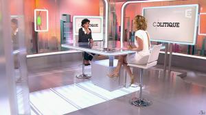 Caroline Roux et Rachida Dati dans C Politique - 08/03/15 - 24