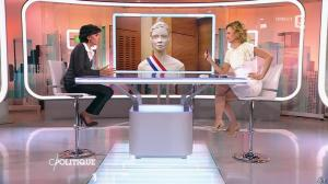 Caroline Roux et Rachida Dati dans C Politique - 08/03/15 - 28