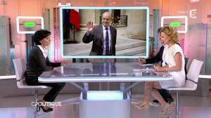Caroline Roux et Rachida Dati dans C Politique - 08/03/15 - 30