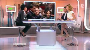 Caroline Roux et Rachida Dati dans C Politique - 08/03/15 - 34