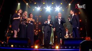 Elodie Gossuin, Tania Young et Laurie Cholewa dans la Télé Chante pour le Sidaction - 28/03/15 - 01