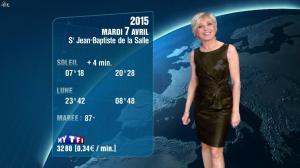 Evelyne Dhéliat à la Météo de 20h - 06/04/15 - 01