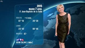 Evelyne Dhéliat à la Météo de 20h - 06/04/15 - 02
