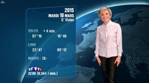 Evelyne Dhéliat à la Météo de 20h - 09/03/15 - 01