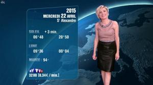 Evelyne Dhéliat à la Météo de 20h - 21/04/15 - 01