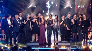 Farida Foodista, Camille Lou, Valérie Durier, Maya Lauqué, Zaho et Laetitia Barlerin dans la Télé Chante pour le Sidaction - 28/03/15 - 04