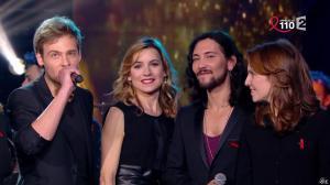 Laetitia Barlerin dans la télé Chante pour le Sidaction - 28/03/15 - 02