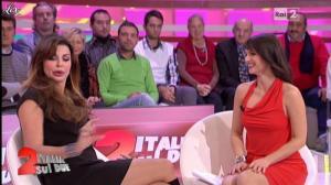 Lorena Bianchetti et Alba Parietti dans Italia Sul Due - 02/11/11 - 05