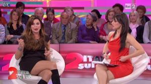 Lorena Bianchetti et Alba Parietti dans Italia Sul Due - 02/11/11 - 07