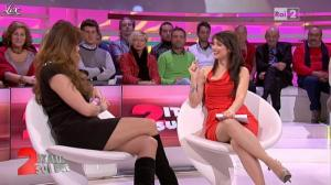 Lorena Bianchetti et Alba Parietti dans Italia Sul Due - 02/11/11 - 08