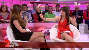 Lorena Bianchetti et Alba Parietti dans Italia Sul Due - 02/11/11 - 09