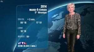 Evelyne Dhéliat à la Météo de 20h - 03/02/14 - 01