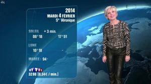 Evelyne Dhéliat à la Météo de 20h - 03/02/14 - 02
