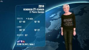 Evelyne Dhéliat à la Météo de 20h - 20/02/14 - 01