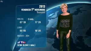 Evelyne Dhéliat à la Météo de 20h - 31/10/13 - 01