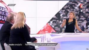 Anne-Sophie Lapix dans Mots Croises - 12/01/15 - 04