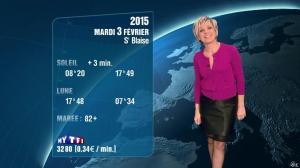 Evelyne Dhéliat à la Météo de 20h - 02/02/15 - 02