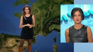 Fanny Agostini et Aurélie Casse à la Météo de BFM TV - 17/02/17 - 01