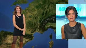 Fanny Agostini et Aurélie Casse à la Météo de BFM TV - 17/02/17 - 08