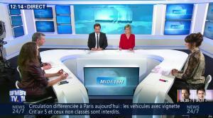 Fanny Agostini et Candice Mahout à la Météo de BFM TV - 23/01/17 - 01
