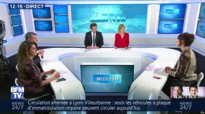 Fanny Agostini et Candice Mahout à la Météo de BFM TV - 23/01/17 - 03