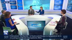 Fanny Agostini et Candice Mahout à la Météo de BFM TV - 28/02/17 - 01