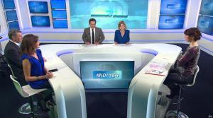 Fanny Agostini et Candice Mahout à la Météo de BFM TV - 28/02/17 - 02