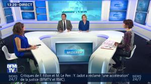 Fanny Agostini et Candice Mahout à la Météo de BFM TV - 28/02/17 - 07
