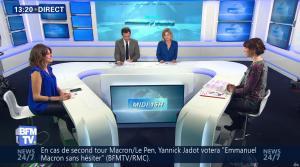 Fanny Agostini et Candice Mahout à la Météo de BFM TV - 28/02/17 - 08