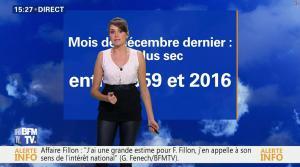 Fanny Agostini à la Météo de BFM TV - 01/02/17 - 04