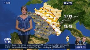Fanny Agostini à la Météo de BFM TV - 01/05/17 - 02