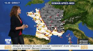 Fanny Agostini à la Météo de BFM TV - 03/02/17 - 02