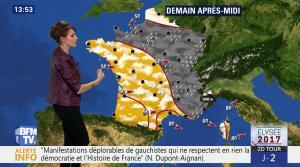 Fanny Agostini à la Météo de BFM TV - 05/05/17 - 01