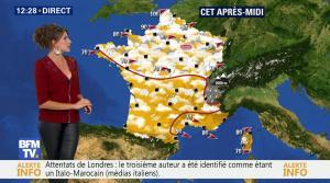 Fanny Agostini à la Météo de BFM TV - 06/06/17 - 03
