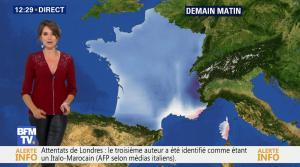 Fanny Agostini à la Météo de BFM TV - 06/06/17 - 05