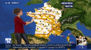 Fanny Agostini à la Météo de BFM TV - 06/06/17 - 13