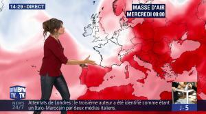 Fanny Agostini à la Météo de BFM TV - 06/06/17 - 14