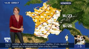 Fanny Agostini à la Météo de BFM TV - 06/06/17 - 15