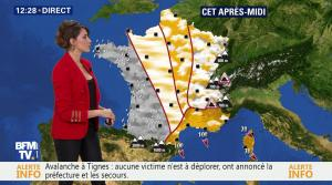 Fanny Agostini à la Météo de BFM TV - 07/03/17 - 02