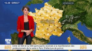 Fanny Agostini à la Météo de BFM TV - 07/03/17 - 09