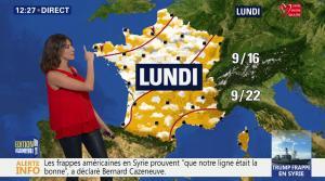 Fanny Agostini à la Météo de BFM TV - 07/04/17 - 02