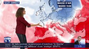 Fanny Agostini à la Météo de BFM TV - 09/05/17 - 02